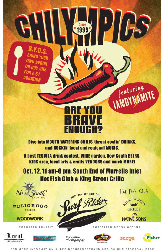 The 15th Annual Lip-Rippin' Chilympics Chili Cook Off!
